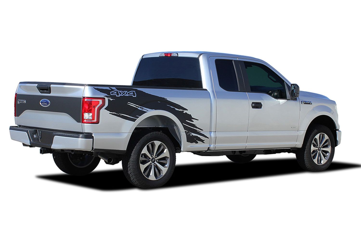 2015 2016 2017 2018 2019 ford f 150 torn vinyl graphics side truck bed decal mudslinger vinyl stripes kit