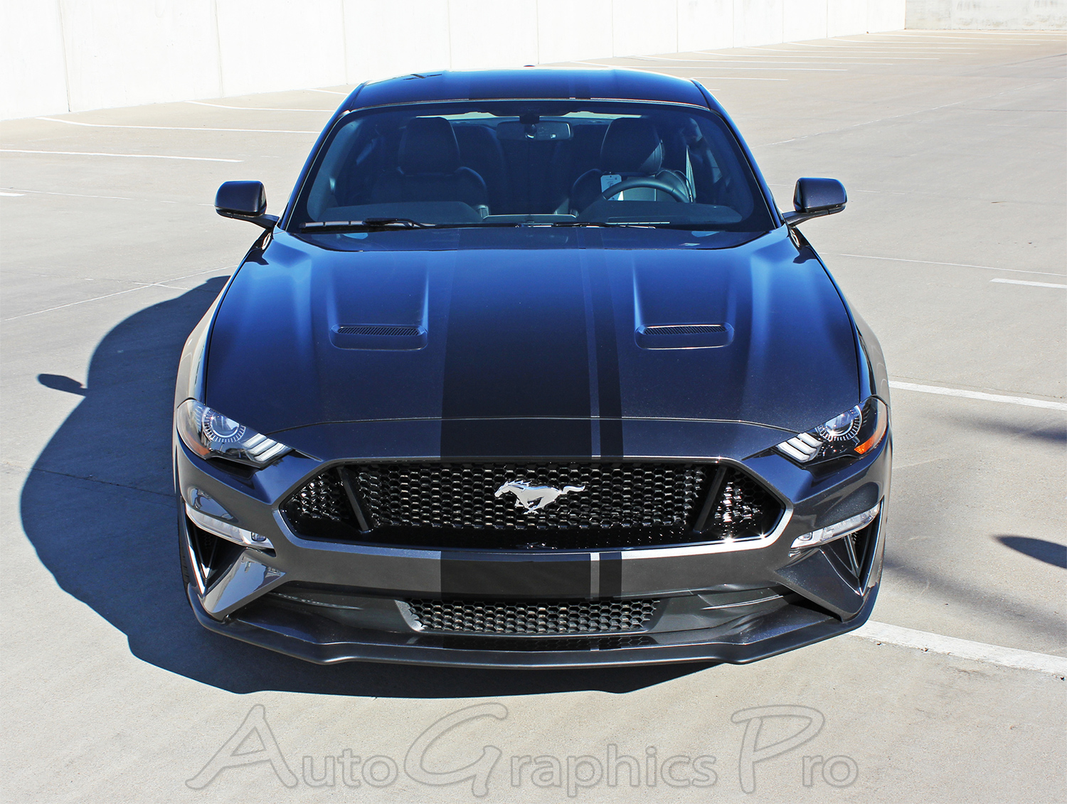 2018 2019 Ford Mustang Racing Stripes EURO XL RALLY Vinyl Graphics Wide Hood Decals