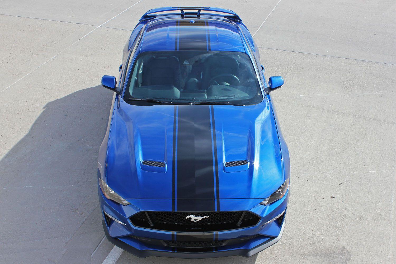 2018 2019 Ford Mustang Racing Stripes Hyper Rally Vinyl