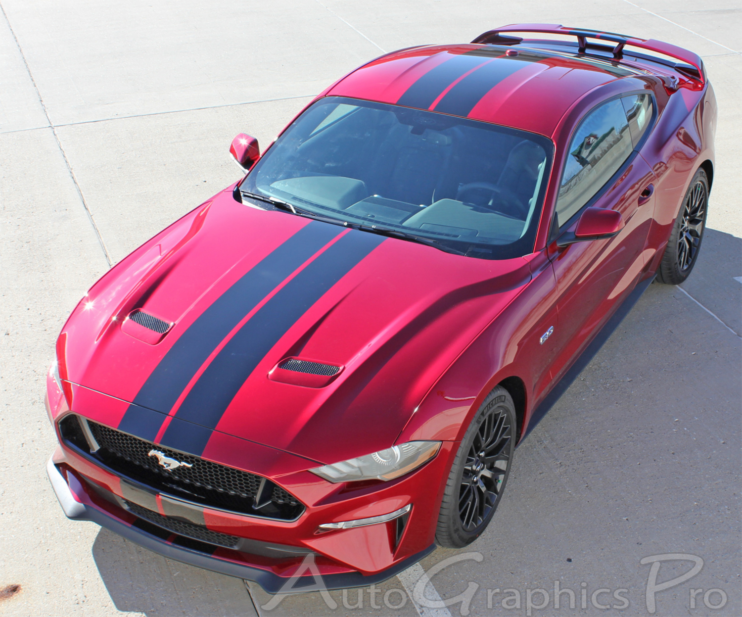 2018 2019 ford mustang racing stripes stage rally vinyl graphics 7 inch wide hood decals