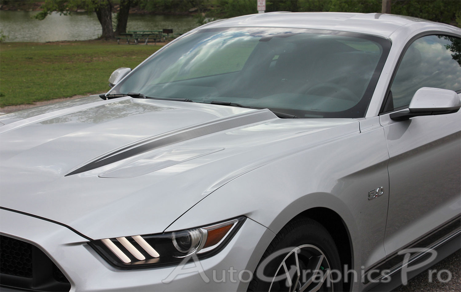 2015 2017 Ford Mustang Digital Faded Hood Spears Gt Cs Style California Special Spikes Factory Oem Stripes Vinyl Decal Graphics
