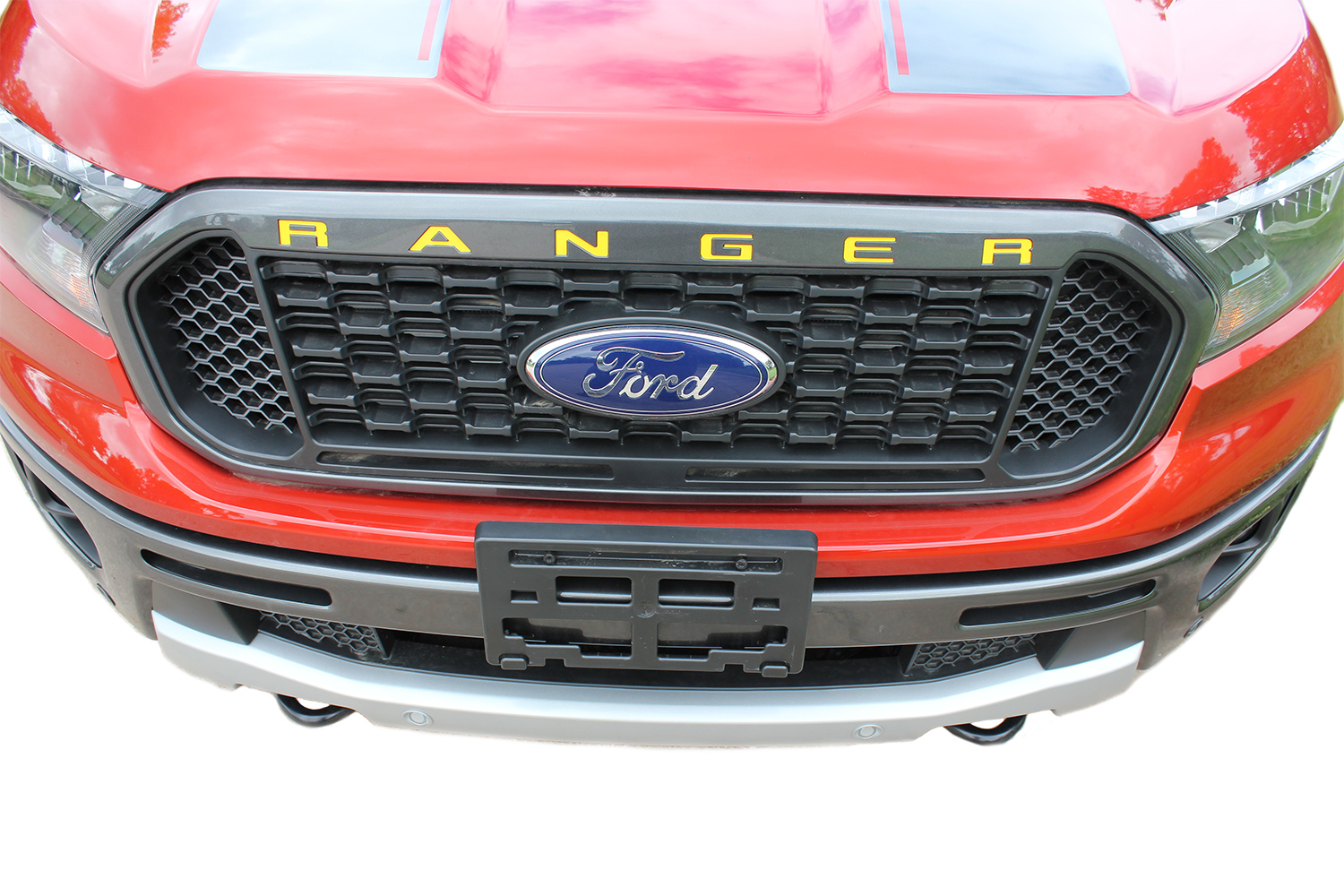 2019 2020 Ford Ranger GRILL Decal Letters Text Stripes