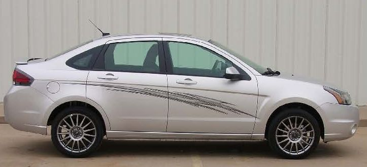 Ford Focus Impact Universal Fit Vinyl Decal Graphic Stripes