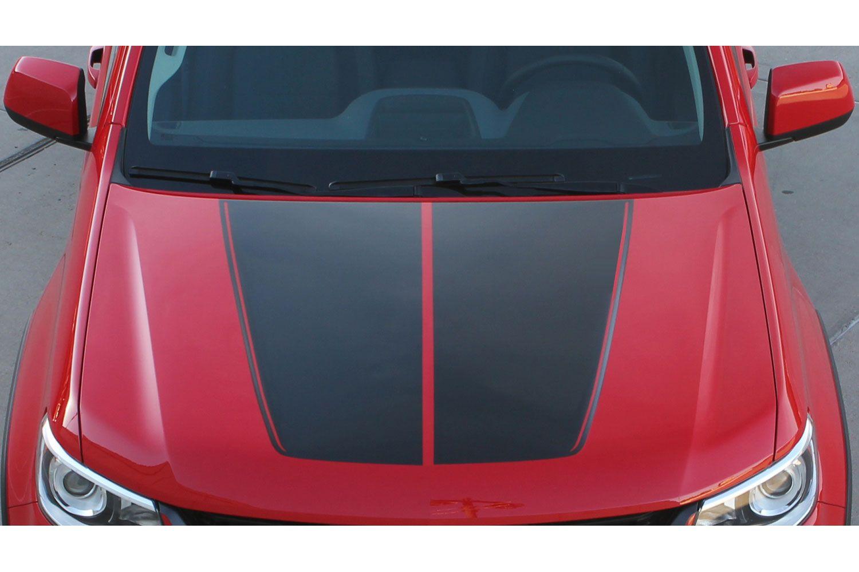2012 2013 2014 2015 2016 2017 Chevy SONIC Hood Decal Split Blackout Rally Stripe