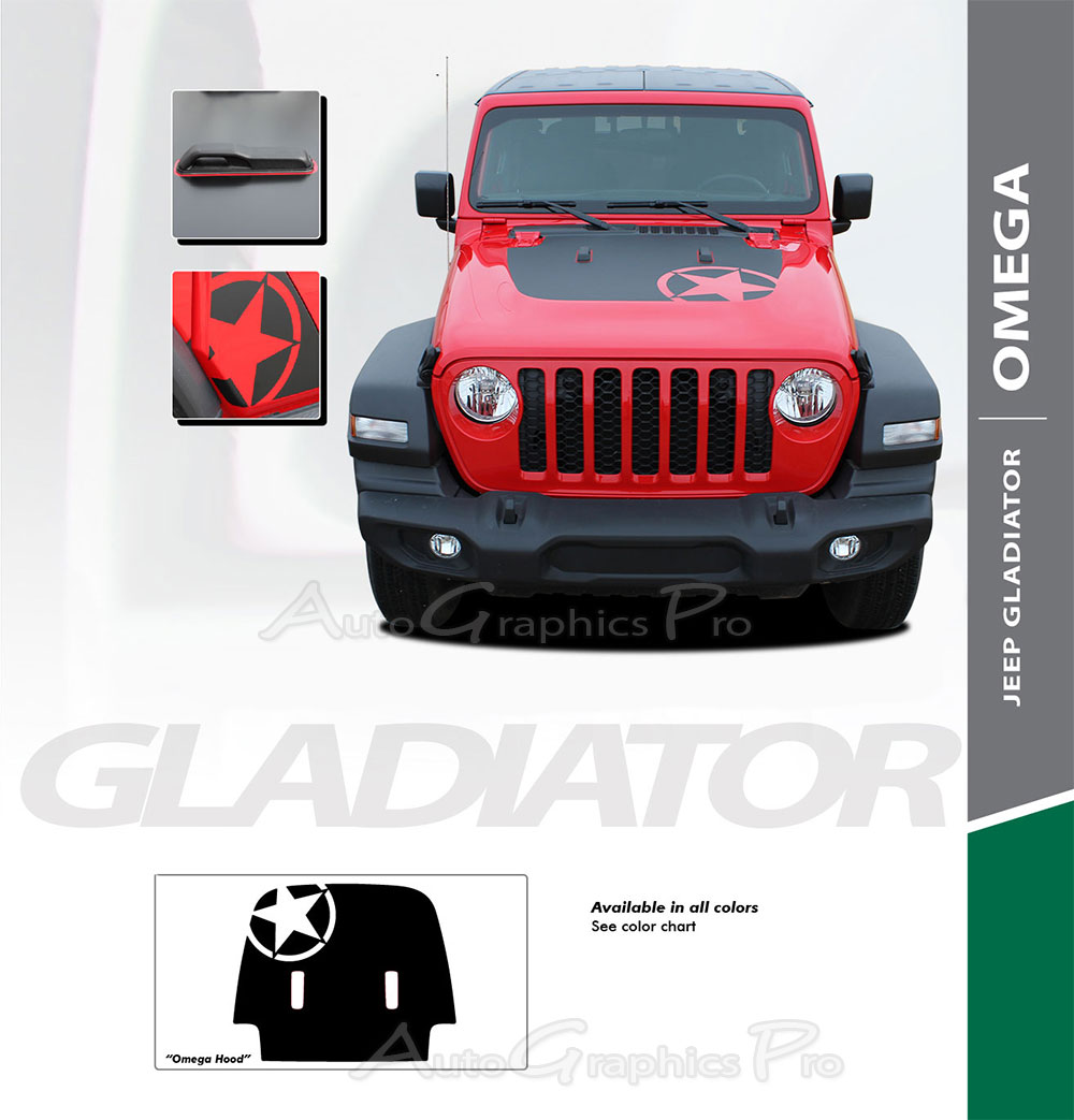 2018-2019 Jeep Wrangler JL SPORT HOOD Vinyl Decal Graphic Stripes Unlimited 3M