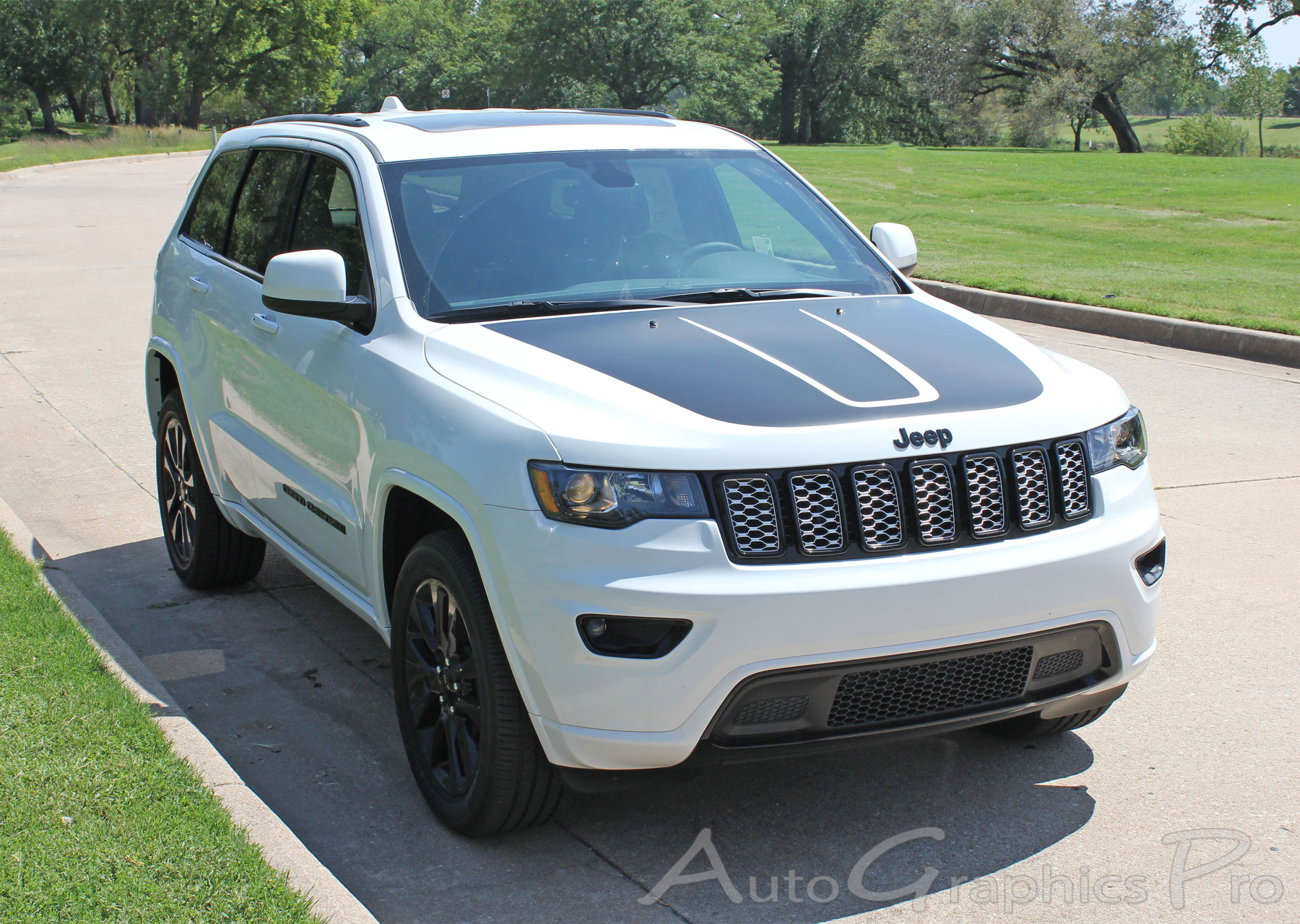 2011 2019 Jeep Grand Cherokee Trailhawk Hood Decal Trail Vinyl Graphic Stripes