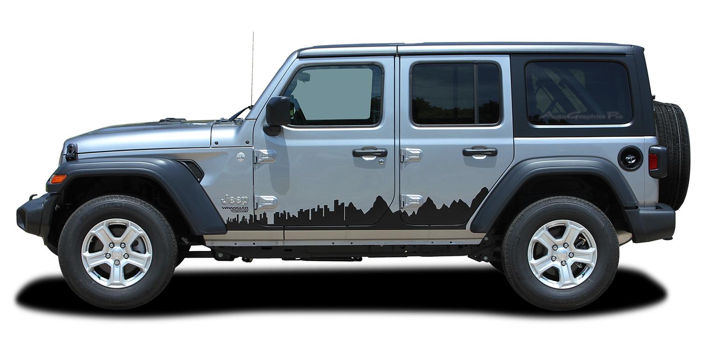 2007 2018 2019 2020 jeep wrangler jl unlimited side door decals scape vinyl graphic door stripes kit