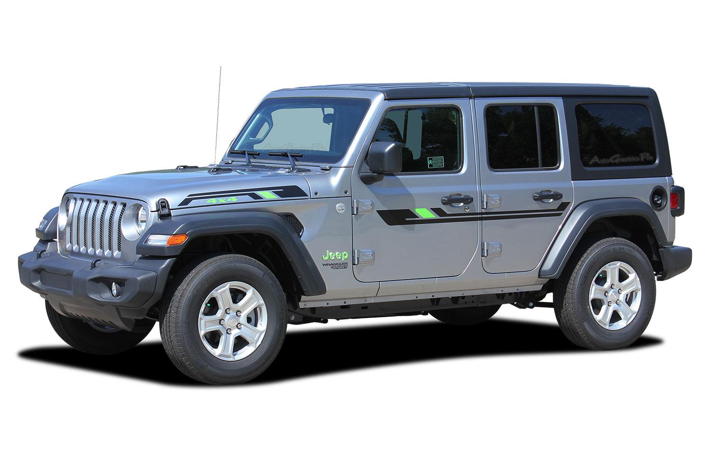 2007 2018 2019 2020 jeep wrangler jl unlimited side door decals bypass vinyl graphic door stripes kit