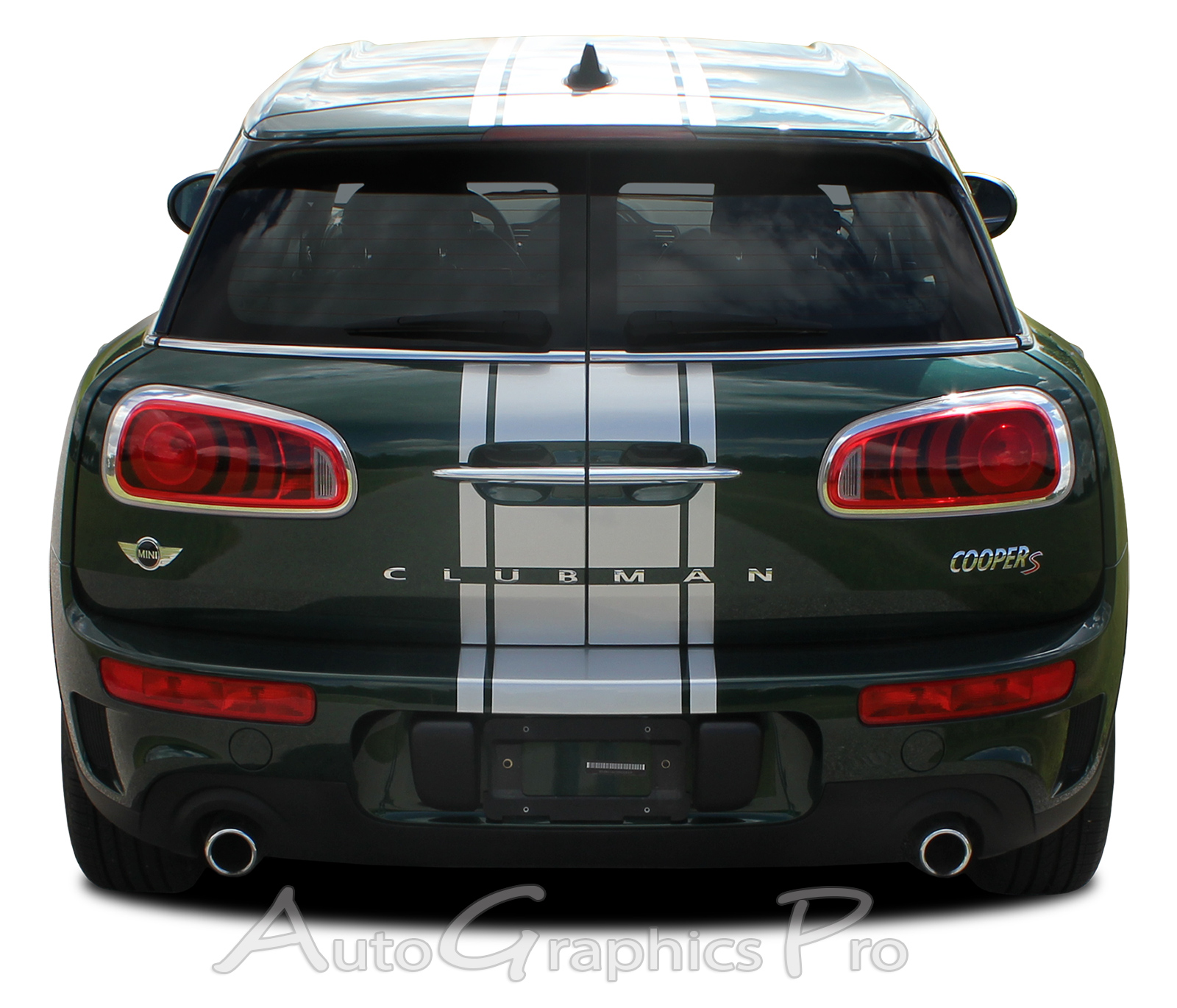 "Red Wing Ford >> 2016-2019 Mini Cooper ""CLUBMAN S-TYPE RALLY"" Stripes Center Hood Vinyl Graphics Decals"