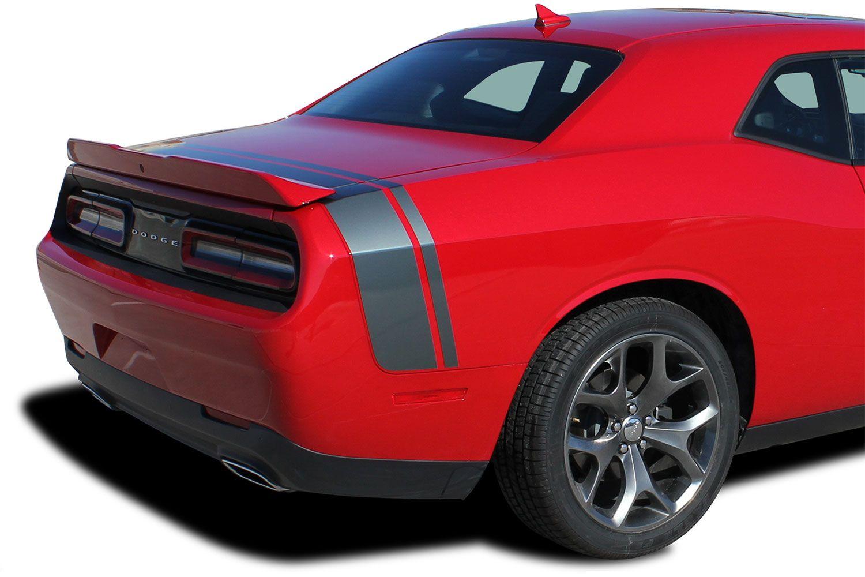 Decal Vinyl Graphic Rear Trunk Stripes for Dodge Challenger SRT RT Scat Pack Kit
