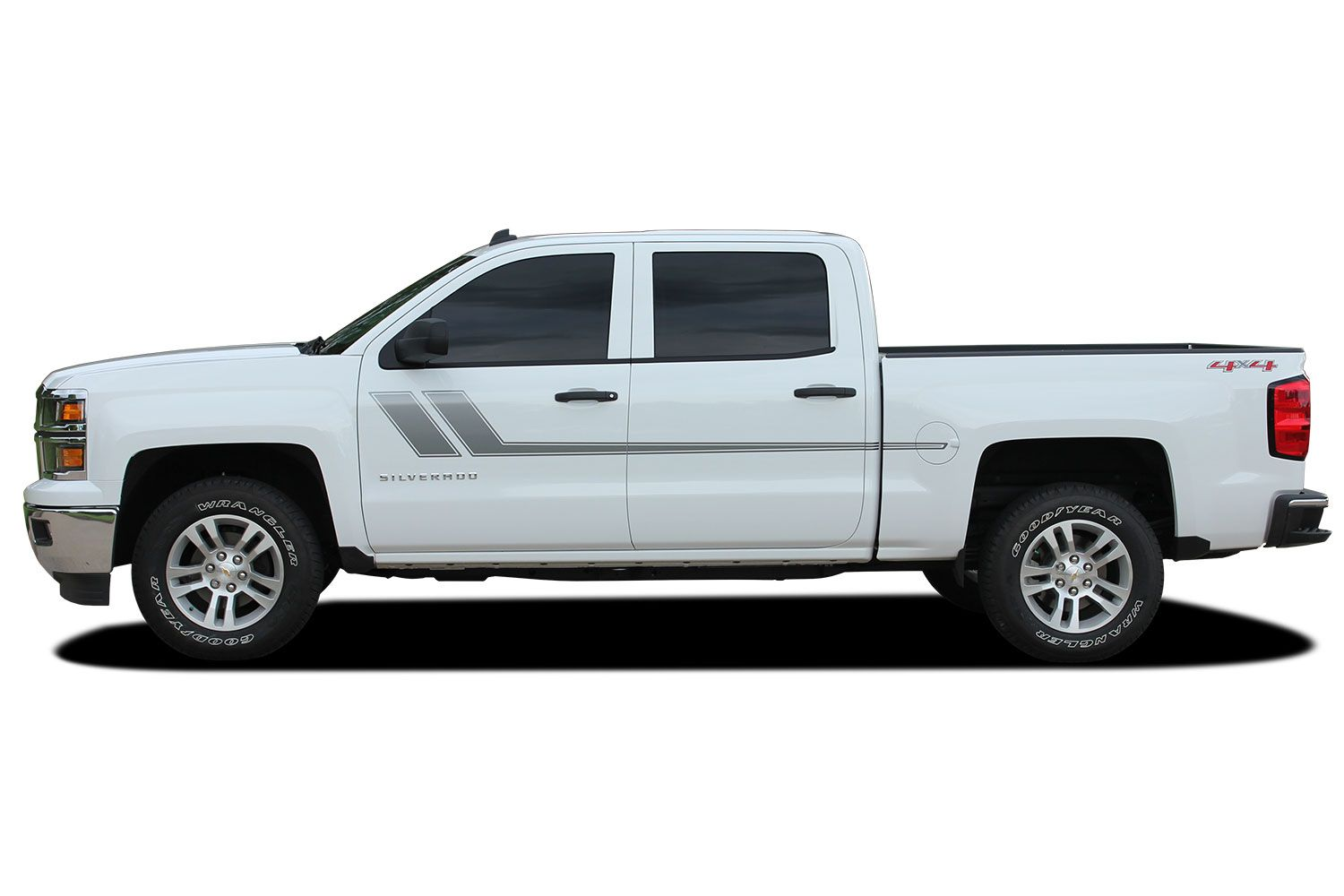 chevy silverado track xl truck side vinyl graphics stripes kit