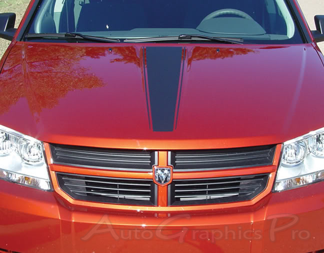 """2008-2014 Dodge Avenger """"AVENGED"""" Hood, Quarter Panel, and Trunk Vinyl Stripes Kit"""
