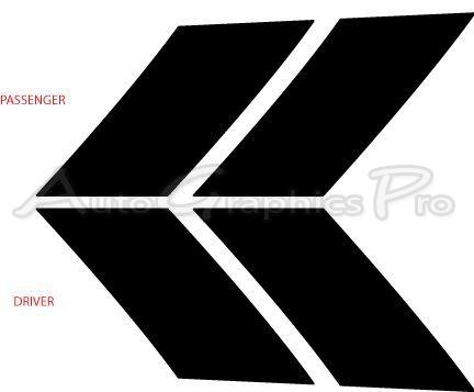 2008 2014 Dodge Avenger Hood Stripes Hash Marks Hood And