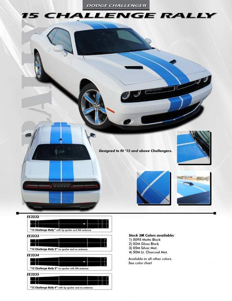 """2015 Dodge Charger 15 Duel Racing Stripes Vinyl Graphic Decal Sticker CUT 10/"""""""