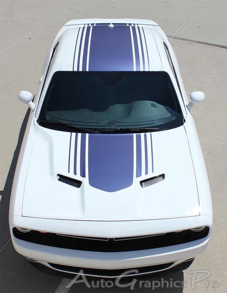 Dodge Challenger Back Slide Factory Style Stripe 3m Automotive Graphic 2008-2010