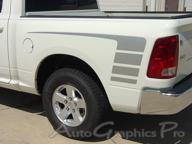 dodge ram power wagon decals hood rear side truck bed vinyl graphic stripe kit