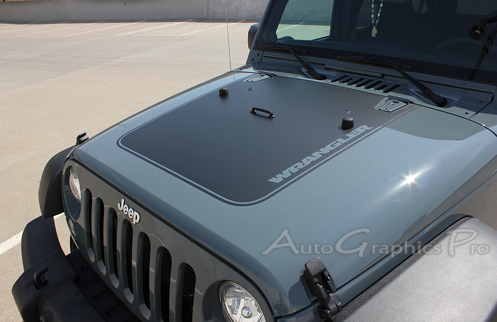 1998 Jeep Wrangler For Sale >> 2007-2017 Jeep Wrangler OUTFITTER Hood Vinyl Decal Graphic Stripes