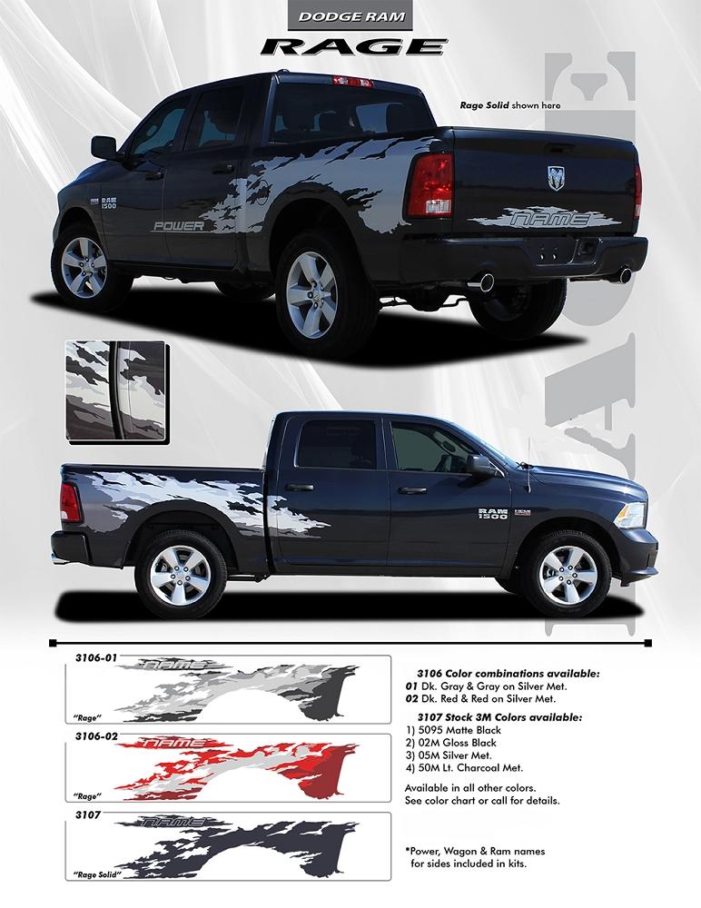 2009 2018 Dodge Ram Rage Rear Bed Truck Power Wagon Vinyl