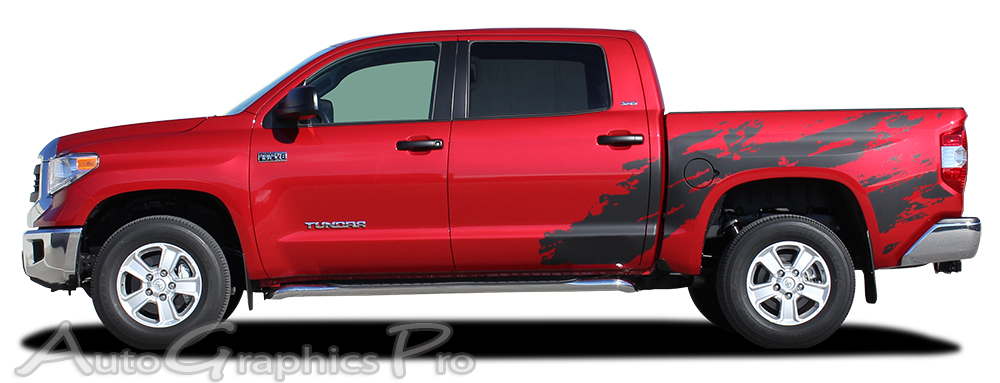 2014 2017 toyota tundra shredder hood and truck bed decal 3m vinyl graphics kit