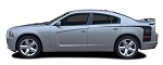 2011-2014 Dodge Charger Quarter Panel Decals RECHARGE Hockey RT Stripes Mopar Style Vinyl Graphics Kit