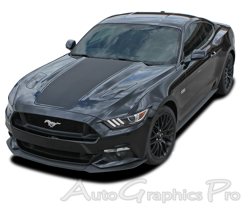 2017 2016 Ford Mustang Super Snake Mega Hood Mohawk Center Wide Racing And Rally Stripes Vinyl Decal Graphics