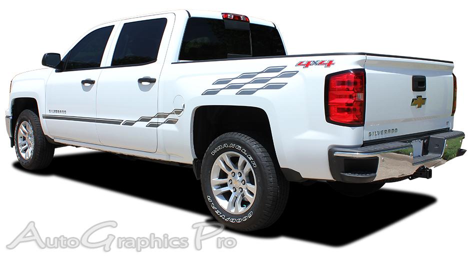 2000 2017 2018 chevy silverado vinyl graphics stripes champ truck side kit