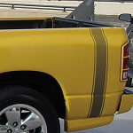 VANGUARD Dodge Truck Bed Fade Style Universal Fit Vinyl Decal Graphic Stripes