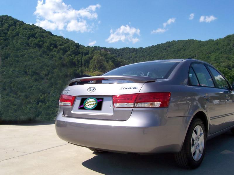 Hyundai Sonata Painted Rear Spoiler Wing Fits 2006 2010