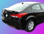 Hyundai Elantra : Painted Rear Spoiler Wing fits 2011-2012 Models
