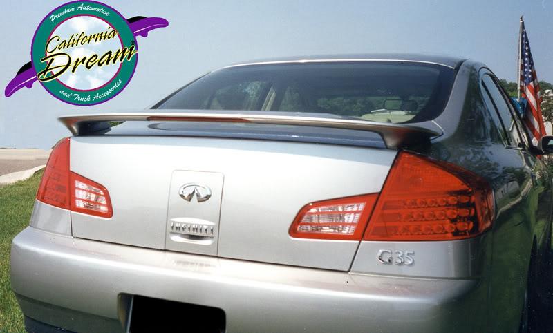 Infiniti G35 4 Door Painted Rear Spoiler Wing Fits 2003 2006 Models