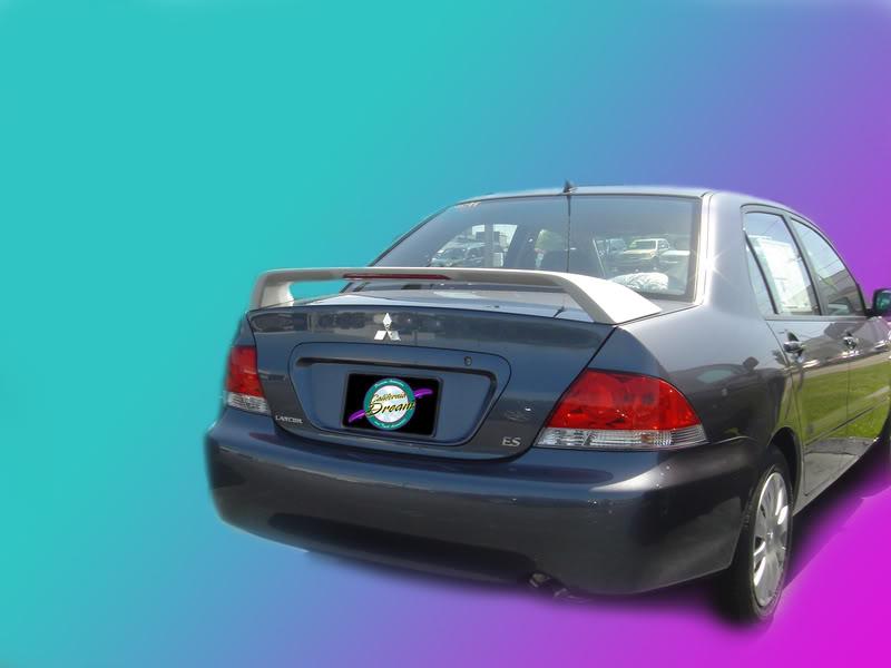 Fits 2003-2005 Hyundai Accent 4 Door  Custom Spoiler Wing un-painted
