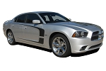 2011-2014 Dodge Charger Door Decals C-STRIPE Stripes Mopar Style Vinyl Graphics Kit