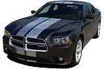 2011-2014 Dodge Charger Racing Stripes N-CHARGE RALLY Mopar Hood Decals Vinyl Graphics Kit 10 Inch