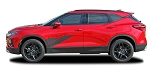 2019-2021 Chevy Blazer Body Decals SIDEKICK Side Door Stripes Accent Vinyl Graphics Kit