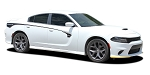 2015-2020 Dodge Charger Side Stripes RILED Door to Rear Quarter Decals Mopar Style Vinyl Graphics Kit
