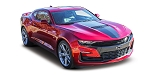 2019 Chevy Camaro Center Hood Stripes OVERDRIVE Wide Roof Trunk Spoiler Rally Racing Stripes Kit