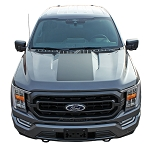 2021 Ford F-150 Hood Decals and Hood Spear Stripes SWAY HOOD Vinyl Graphics Kit