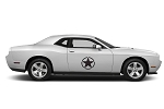 Dodge Challenger Army Stars Door or Hood Decals Vinyl Graphics (All Model Years)