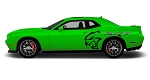 2008-2020 Dodge Challenger Side Body Graphic SRT HELLCAT Door Vinyl Decals 3M Kit