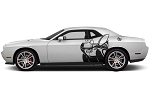 2008-2020 Dodge Challenger Side Body Graphic SCAT PACK BEE Door Vinyl Decals 3M Kit