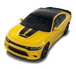 2015-2020 Dodge Charger Hood Stripe Vinyl Graphic Decals HOOD 15 Hemi Daytona R/T SRT 392 Hellcat Blackout Kit