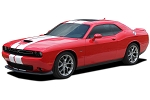 2015-2020 Dodge Challenger SRT Hellcat Racing Stripes Hood Decals OEM Style 10 inch Vinyl Graphics Kit