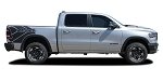 2019 2020 2021 Dodge Ram Rebel Side Bed Graphics Decals Stripes REB SIDES Vinyl Graphic Kit