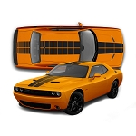 2008-2020 Dodge Challenger Blacktop Rally Stripes PULSE RACING STRIPES Strobe Vinyl Graphics Decal Kit