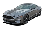 2018 2019 2020 2021 Ford Mustang Mach 1 Racing Stripes SUPERSONIC Vinyl Graphics Wide Hood Decals Kit
