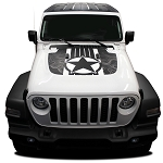 2020 Jeep Gladiator Hood Decal JOURNEY HOOD Vinyl Graphic Stripes Kit