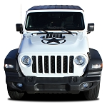 2018 2019 2020 Jeep Wrangler JL ALPHA STAR HOOD Vinyl Decal Graphic Stripes Unlimited