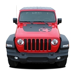 2020 Jeep Gladiator Hood Decal OMEGA HOOD Vinyl Graphic Stripes Kit