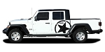 2020 Jeep Gladiator Side Star Decal ALPHA SIDES Body Vinyl Graphic Stripes Kit