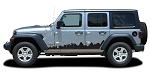 2007-2021 Jeep Wrangler JL Unlimited Side Door Decals SCAPE Vinyl Graphic Door Stripes Kit